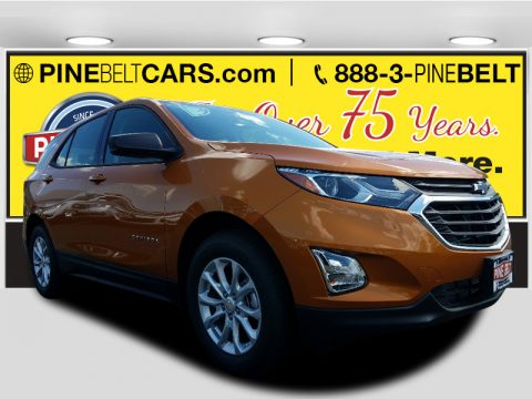 Orange Burst Metallic Chevrolet Equinox LS.  Click to enlarge.