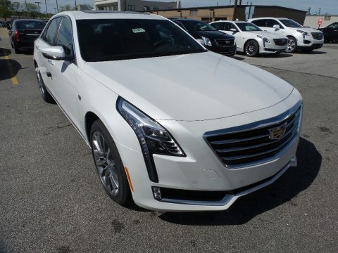 Crystal White Tricoat Cadillac CT6 3.0 Turbo Luxury AWD Sedan.  Click to enlarge.