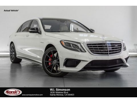 designo Diamond White Metallic Mercedes-Benz S 63 AMG 4Matic Sedan.  Click to enlarge.