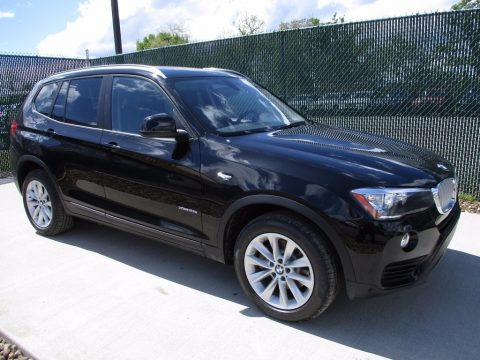Jet Black BMW X3 xDrive28i.  Click to enlarge.