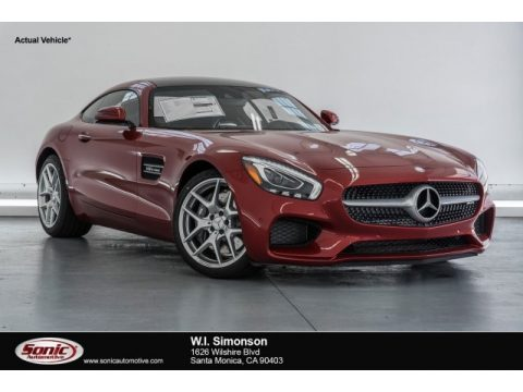 designo Cardinal Red Mercedes-Benz AMG GT Coupe.  Click to enlarge.