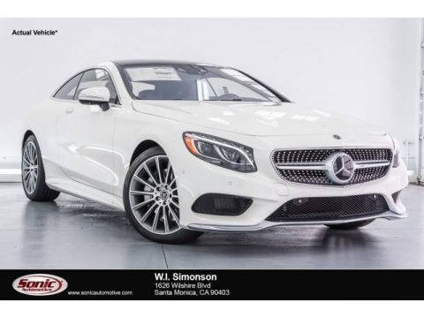 designo Diamond White Metallic Mercedes-Benz S 550 4Matic Coupe.  Click to enlarge.