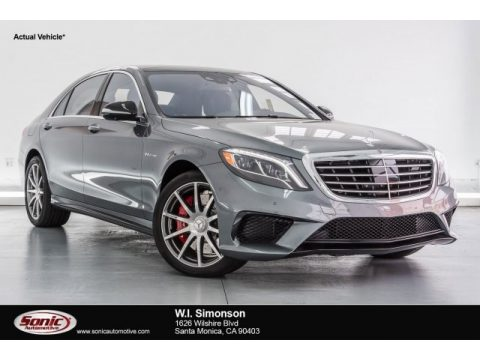 Selenite Grey Metallic Mercedes-Benz S 63 AMG 4Matic Sedan.  Click to enlarge.