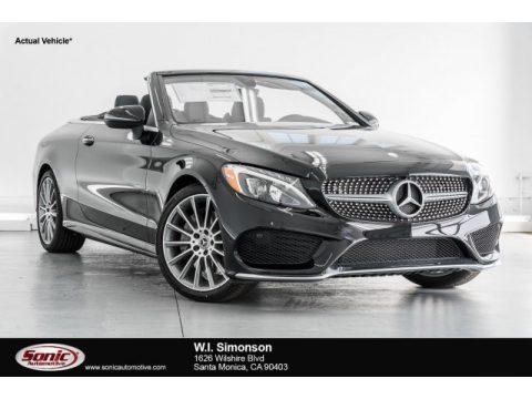 Black Mercedes-Benz C 300 Cabriolet.  Click to enlarge.