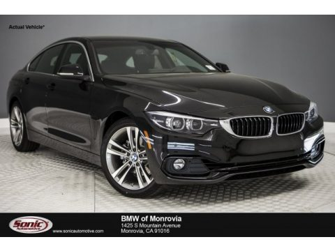 Black Sapphire Metallic BMW 4 Series 430i Gran Coupe.  Click to enlarge.