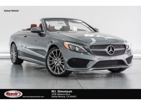 Selenite Grey Metallic Mercedes-Benz C 300 Cabriolet.  Click to enlarge.