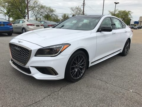 Casablanca White Hyundai Genesis G80 Sport.  Click to enlarge.