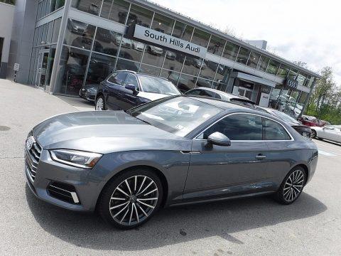 Monsoon Gray Metallic Audi A5 Premium Plus quattro Coupe.  Click to enlarge.