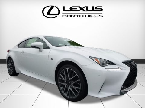 Ultra White Lexus RC 350 F Sport AWD.  Click to enlarge.
