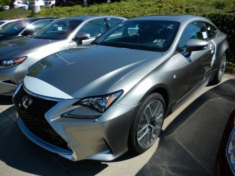 Atomic Silver Lexus RC 300 F Sport AWD.  Click to enlarge.