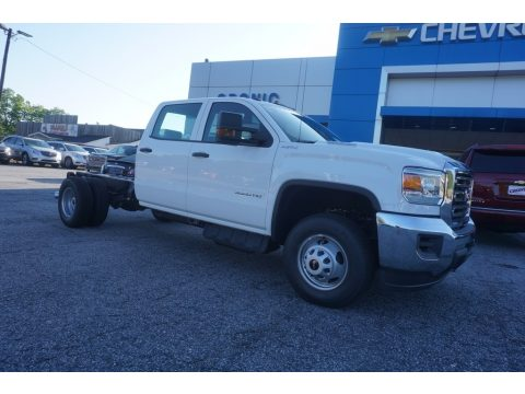 Summit White GMC Sierra 3500HD Crew Cab Chassis 4x4.  Click to enlarge.