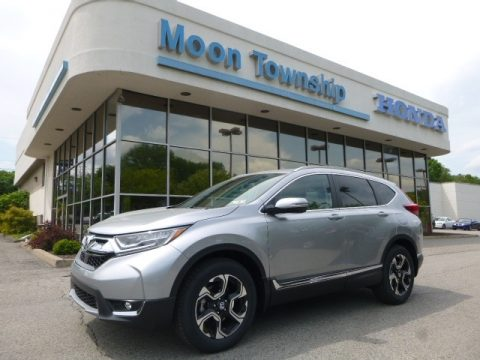 Lunar Silver Metallic Honda CR-V Touring AWD.  Click to enlarge.