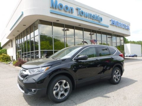 Crystal Black Pearl Honda CR-V EX AWD.  Click to enlarge.
