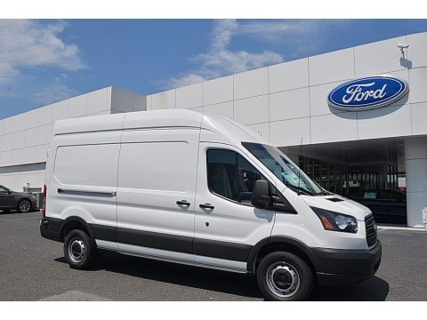 Oxford White Ford Transit Van 250 HR Long.  Click to enlarge.