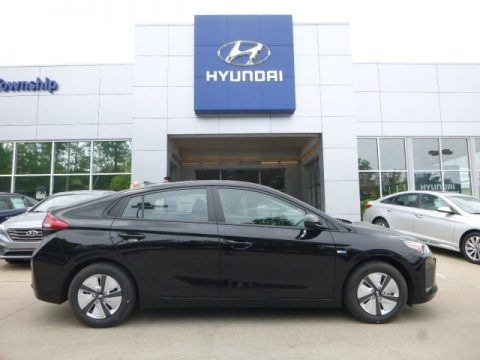 Black Noir Pearl Hyundai Ioniq Hybrid Blue.  Click to enlarge.