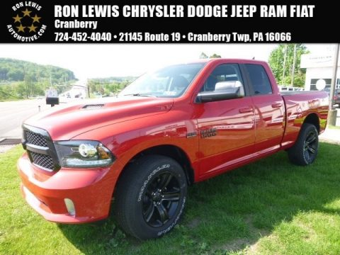Flame Red Ram 1500 Sport Quad Cab 4x4.  Click to enlarge.