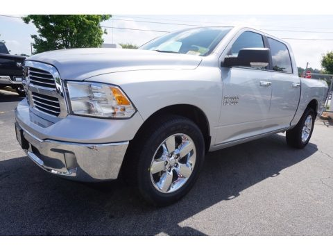Bright Silver Metallic Ram 1500 Big Horn Crew Cab.  Click to enlarge.