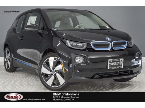 Fluid Black BMW i3 with Range Extender.  Click to enlarge.