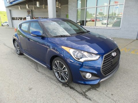 Pacific Blue Hyundai Veloster Turbo.  Click to enlarge.