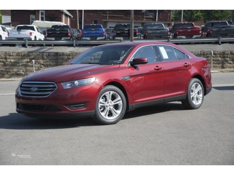 Ruby Red Ford Taurus SEL AWD.  Click to enlarge.