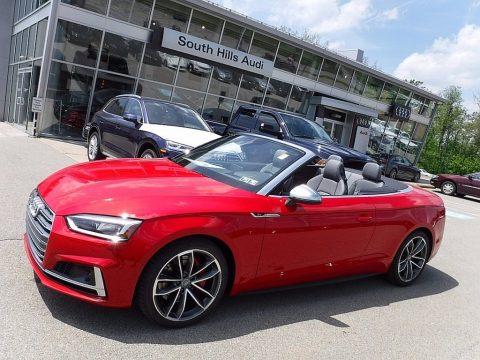 Tango Red Metallic Audi S5 Premium Plus Cabriolet.  Click to enlarge.
