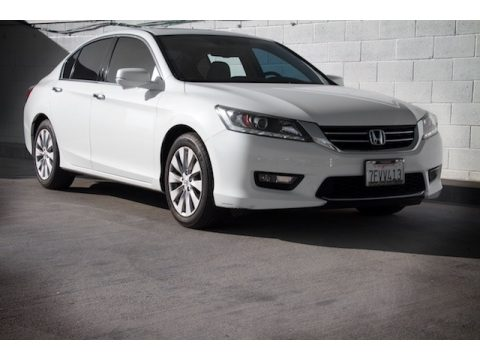 White Orchid Pearl Honda Accord EX-L V6 Sedan.  Click to enlarge.