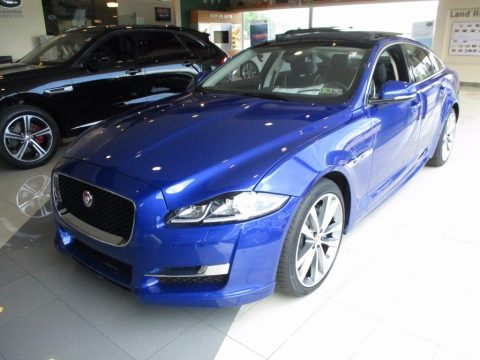 Caesium Blue Metallic Jaguar XJ R-Sport AWD.  Click to enlarge.