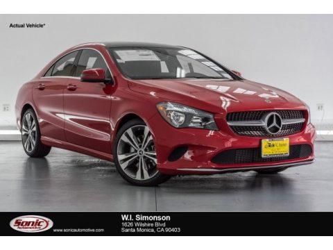 Jupiter Red Mercedes-Benz CLA 250 Coupe.  Click to enlarge.