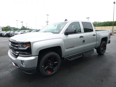 Silver Ice Metallic Chevrolet Silverado 1500 LTZ Crew Cab 4x4.  Click to enlarge.