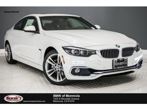 Mineral White Metallic BMW 4 Series 430i Coupe.  Click to enlarge.
