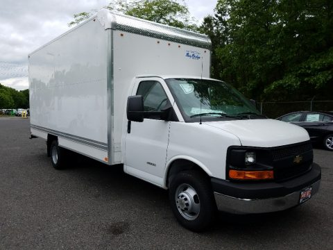 Summit White Chevrolet Express Cutaway 4500 Moving Van.  Click to enlarge.