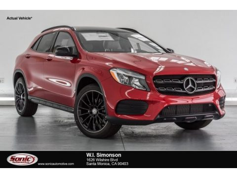 Jupiter Red Mercedes-Benz GLA 250.  Click to enlarge.