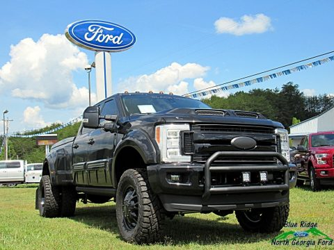 Shadow Black Ford F350 Super Duty Lariat Crew Cab 4x4.  Click to enlarge.