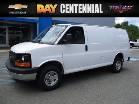 Summit White Chevrolet Express 3500 Cargo WT.  Click to enlarge.