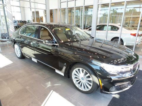 Black Sapphire Metallic BMW 7 Series 740e iPerformance xDrive Sedan.  Click to enlarge.