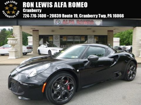 Black Alfa Romeo 4C Coupe.  Click to enlarge.