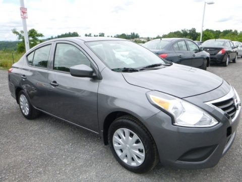 Gun Metallic Nissan Versa S.  Click to enlarge.
