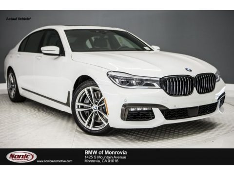 Mineral White Metallic BMW 7 Series 750i Sedan.  Click to enlarge.