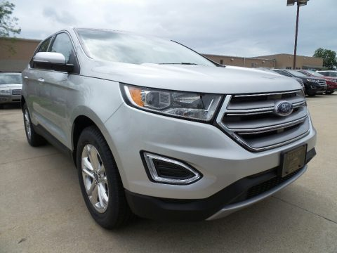 Ingot Silver Metallic Ford Edge SEL AWD.  Click to enlarge.