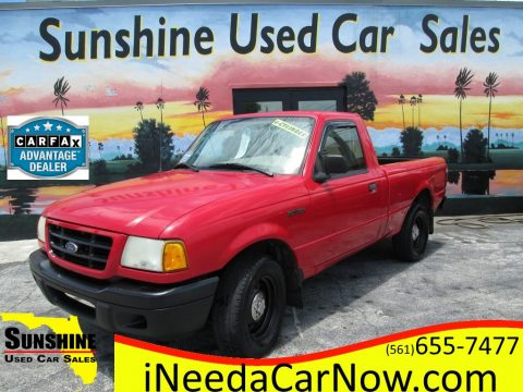 Bright Red Ford Ranger XL Regular Cab.  Click to enlarge.