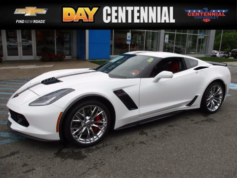 Arctic White Chevrolet Corvette Z06 Coupe.  Click to enlarge.