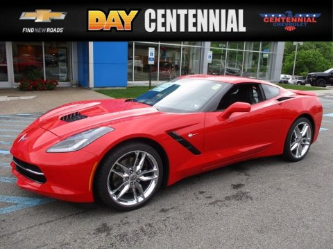 Torch Red Chevrolet Corvette Stingray Coupe.  Click to enlarge.