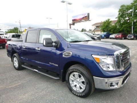 Deep Blue Pearl Nissan Titan SV Crew Cab 4x4.  Click to enlarge.