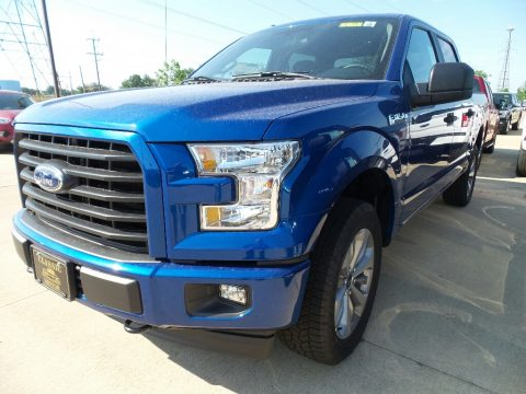 Lightning Blue Ford F150 XL SuperCrew 4x4.  Click to enlarge.