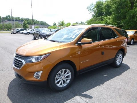 Orange Burst Metallic Chevrolet Equinox LT AWD.  Click to enlarge.