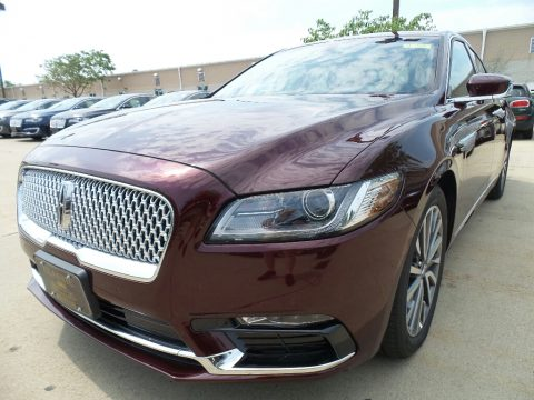 Burgundy Velvet Lincoln Continental Select AWD.  Click to enlarge.