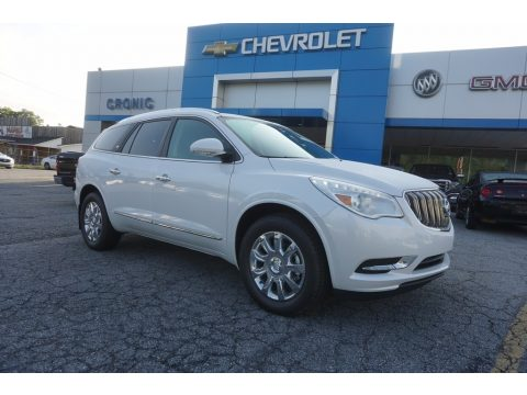 White Frost Tricoat Buick Enclave Premium.  Click to enlarge.
