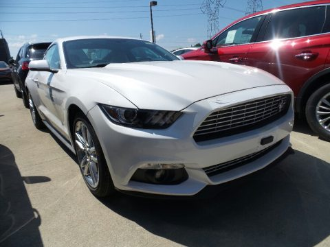 White Platinum Ford Mustang EcoBoost Premium Coupe.  Click to enlarge.