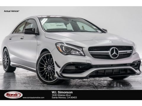 designo Polar Silver Magno (Matte) Mercedes-Benz CLA AMG 45 Coupe.  Click to enlarge.