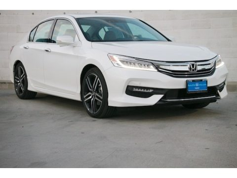 White Orchid Pearl Honda Accord Touring Sedan.  Click to enlarge.